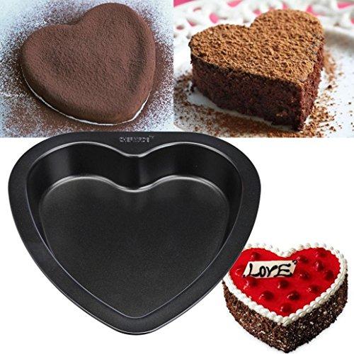 BinmerTM Heart-shaped Cake Mold Baking Carbon Steel Non Stick Bakeware Cake Pan Mould 7-inch