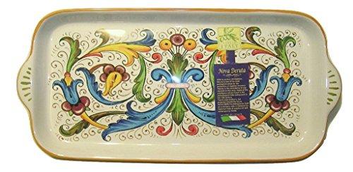 Nova Deruta Floral Rectangle Bread Platter
