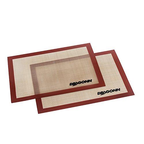DRAGONN 2 Pk Non-stick Silicone Baking Mat Set16 58 X 11