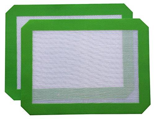 Silicone Baking Mat - Set of 2 Nonstick CookieMacaronPastry Sheets Quarter Sheet115x85 2pk