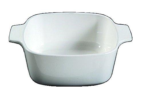 Corning Ware White Coupe Square Casserole  No Lid  1 12 Quart   A-1 12-B