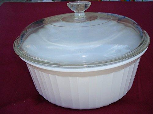 Corningware French White Casserole with Glass Lid F-5-B