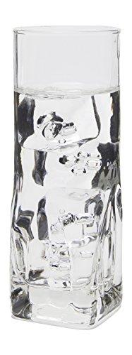 Belgian Premium Quality Quartz Collins Beverage Glasses, Set Of 6