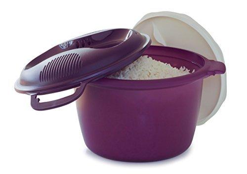 TUPPERWARE MICROWAVE RICE COOKER LARGE 3L … purple