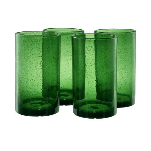 Artland Iris Highball Glasses, Green, Set Of 4