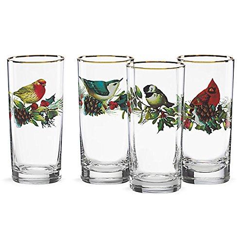 Lenox Winter Highball Greetings Glass, Clear, Set Of 4
