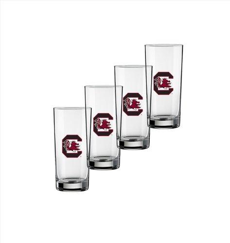Ncaa South Carolina Fighting Gamecocks Set Of 4 Highball Glasses, 16-ounce
