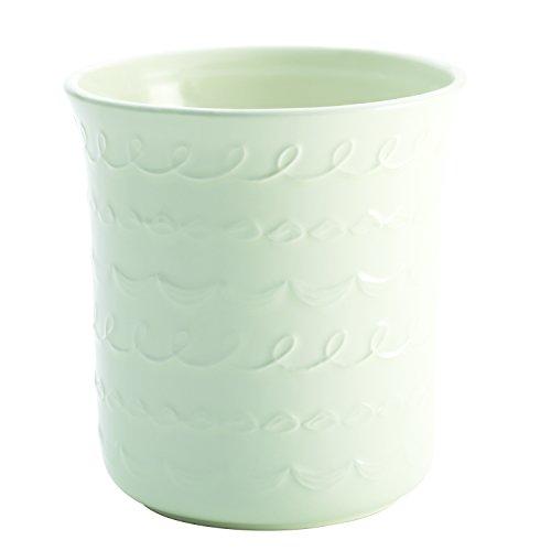 Cake Boss Countertop Accessories Stoneware Tool Crock Icing Pattern White