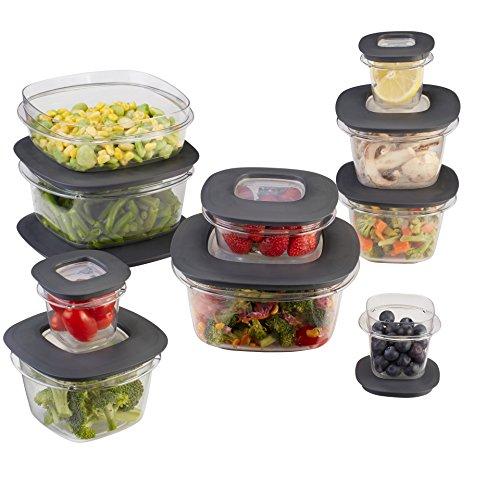 Rubbermaid Premier Food Storage Containers 20-Piece Set Grey