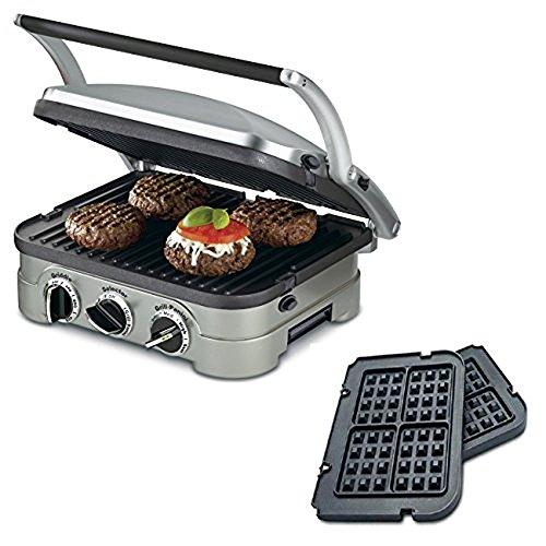 Cuisinart GR-4N 5-in-1 Griddler W Waffle Plates Certified Refurbished