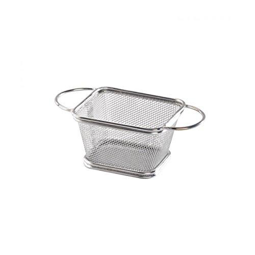PacknWood Rectangular Mini Metal Fry Basket 4 x 33 x 26  Case of 6