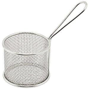 Winco FBM-32R 375-Inch Diameter Stainless Steel Round Mini Deep Fry Serving Basket