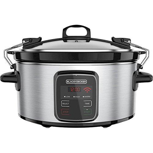 BLACKDECKER Best Programmable Crock Pot 6-Quart Slow Cooker with WiFi-Enabled