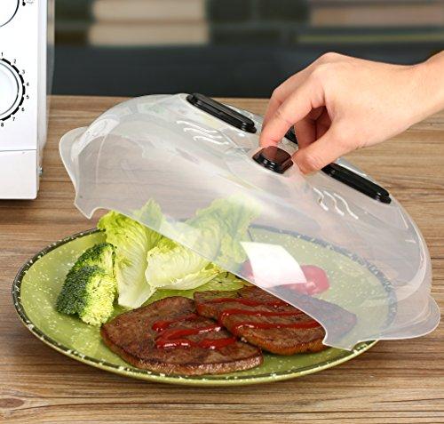 Microwave Hover Splatter Cover Food Splatter Guard Microwave Splatter Lid with Steam Vents  115 – Inch