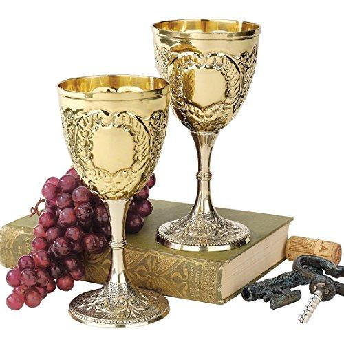 Design Toscano The King's Royal Chalice Embossed Brass Goblet