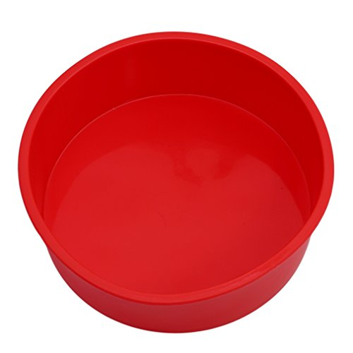 Myhouse Christmas Round Cake Pan Baking Mold 6 Inch Silicone Baking Tray Mould Kitchen Baking Tool