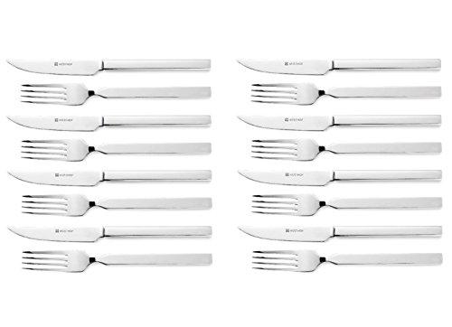 Wusthof 16pc 45 Stainless Steel Steak Knife Fork Set