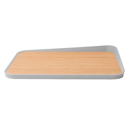 Berghoff Leo Bamboo Cutting Board 100 Natural Bamboo Cutting Boards Anti-slip - Grey