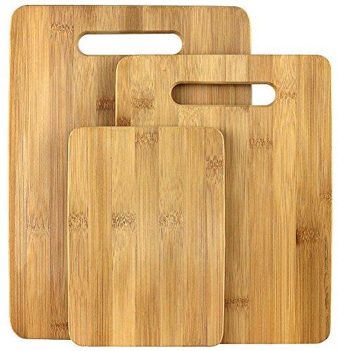 Estilo 3 Piece 100 Natural Bamboo Cutting Board Set Bamboo
