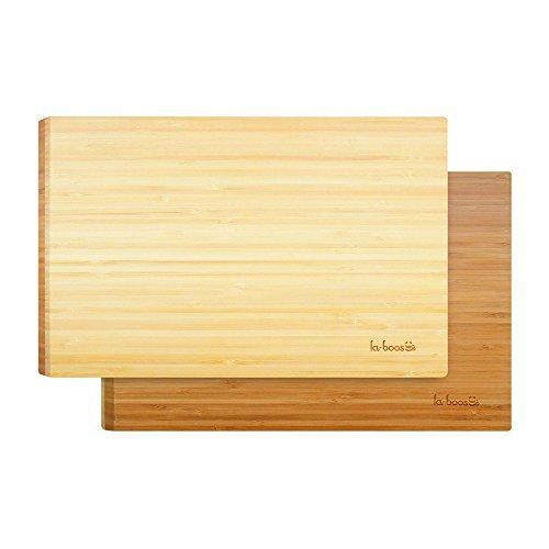 La Boos Two-Color Smart Cutting Board 45-Degree Angle Design Natural Bamboo Chopping Board