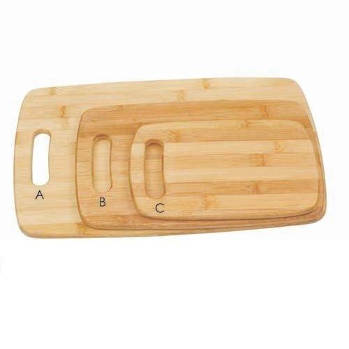 Dannys World Bamboo Premium 3 Piece Cutting Board Set