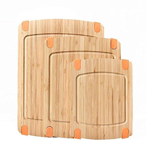 Welland WKD400-503 Bamboo 3 Piece Cutting Board Set Natural
