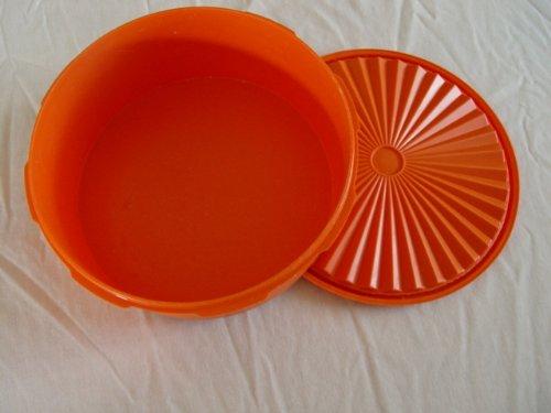 Vintage Tupperware Orange 8 Round Servalier Canister with Lid