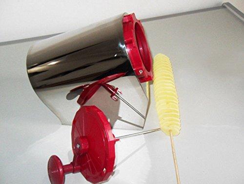Quality Potato Tornado Rotary Spiral Tower Handy Whirlwind Potato Machine Tool