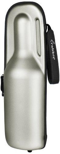 Rabbit Wine Trek Portable Bottle Cooler Silver and Black