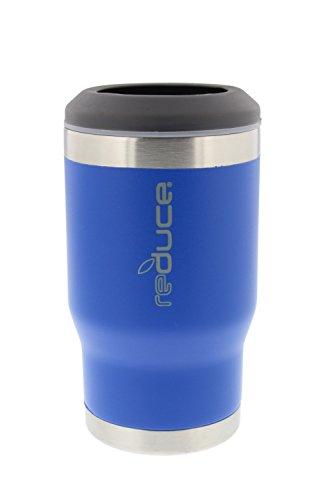 reduce COLD-1 Powder Coat BottleCan Cooler Blue