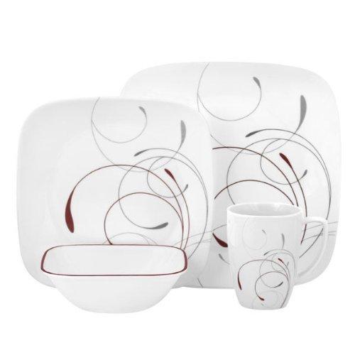 Corelle Square 32-Piece Dinnerware Set Splendor Service for 8