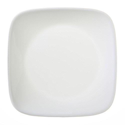 """Corelle Square Pure White 6-12"""" Plate Set of 12"""