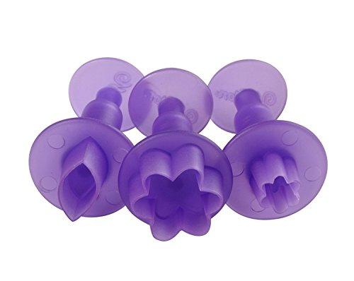 Wilton Fondant 3-Piece Mini Cutters Flower and Leaf