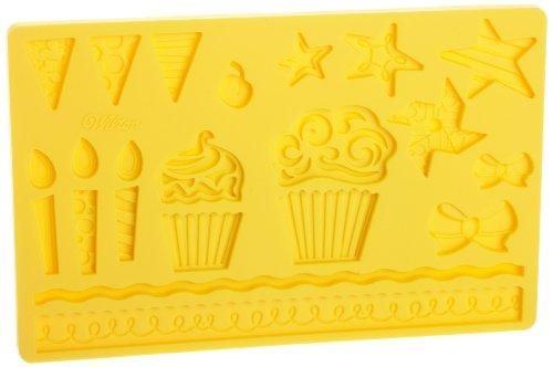 Wilton Fondant and Gum Paste Silicone Mold Kids Party