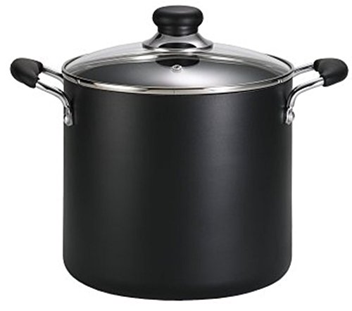 T-fal A92279 Specialty Total Nonstick Dishwasher Safe Oven Safe Stockpot Cookware 8-Quart Charcoal