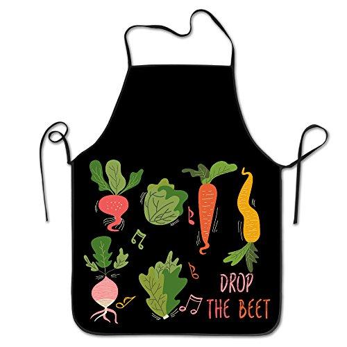 Kitchen Apron For Women Cute Apron Dress Men Cooking Apron Pinafore Drop The Beet Vegetable Music Band Concert Apron