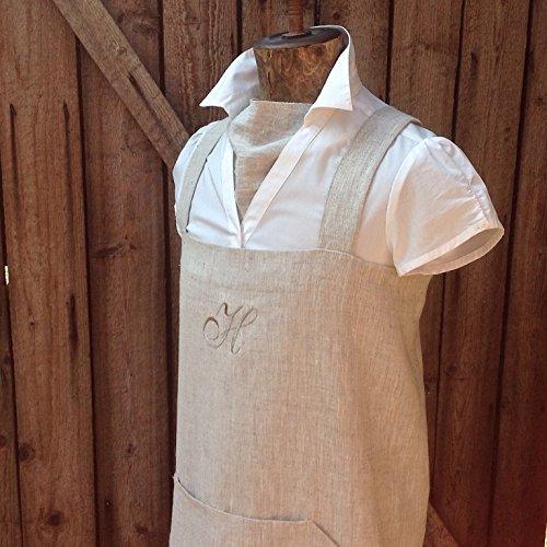 Linen apron pinafore apron cross back apron japanese style
