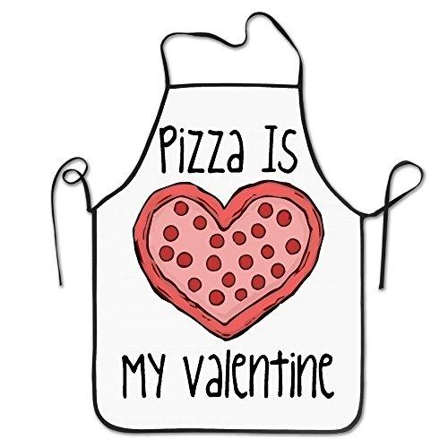 Pizza Is My Valentine Kitchen Apron For Women Retro Apron Dress Men Cooking Apron Pinafore