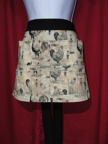 Handmade Egg Gathering Collecting Apron Black Tan Pockets Hold Eggs Made in the USA