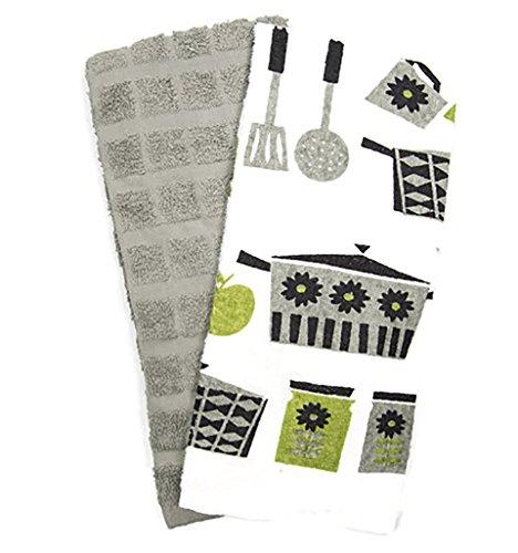 Designer 2 Pack 100 Cotton Kitchen Towel Set Kitchen