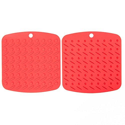 Silicone Pot Mat Set of 4 Heat Resistant Reusable Trivet Mats Flexible Non-slip Hot Pads silicone pot mat