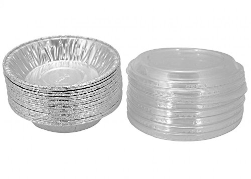 Aluminum Foil 3 78 For Mini PieTart Pans Pot-Pie Tins With Lid 20 Sets