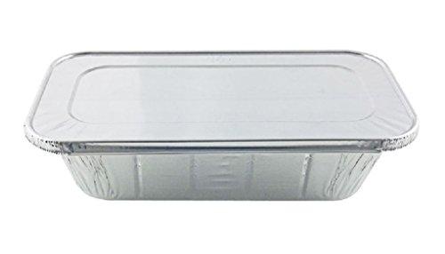 13 ThirdSize Deep Aluminum Foil Steam  5 lb Loaf Pan wFoil Lids