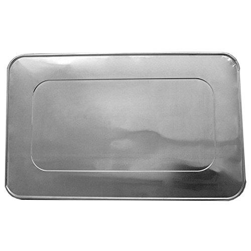 Steam Table Aluminum Foil Lid - Full Size - 15 ct Silver  Foil  Bakers Chefs