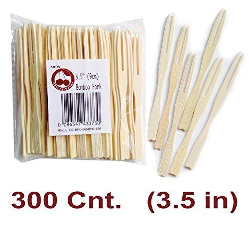 Fruit Forks - Bamboo Skewer - Mini Fork - 35-inch Set of 300