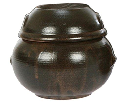 2975oz582880cc Korean Traditional Table Earthenware Compact Size Pottery Pot Jar Hangari with Lid