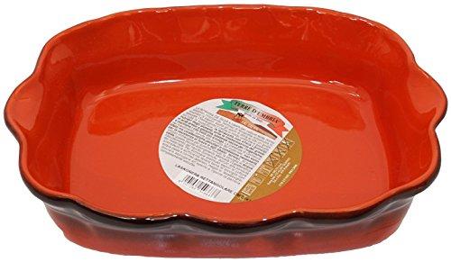 De Silva Terre DUmbria Lasagne Dish Made of Terracotta Earthenware 748 x 53 Inches Base  Italian Import