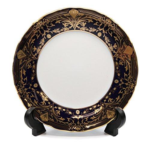 Royalty Porcelain Set of 6 Dessert Plates Vintage Floral Pattern 24K Gold Bone China Tableware 65 Vintage Cobalt Blue Floral