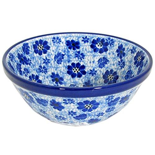Polish Pottery Handmade 55 Old Kitchen Nesting Bowl 059-Blue Dragonfly