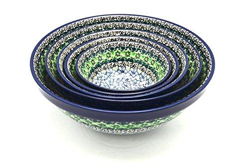 Polish Pottery Nesting Bowl Set - Kiwi